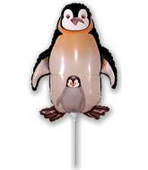 Airfill Only Black  Penguin Balloon