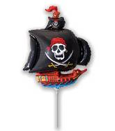 Airfill Only Black Pirate Ship Balloon