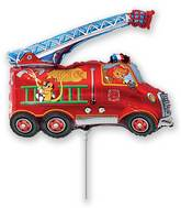 Airfill Only Fire Truck Balloon