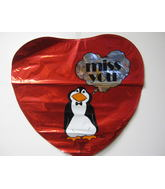 "18"" Miss You Penguin Thought Bubble"