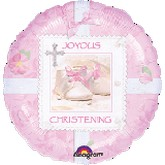 "18"" Tiny Blessings Pink Chirstening"
