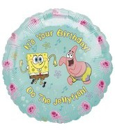 "18"" Spongebob Balloon It&#39s Your Birthday Jelly"
