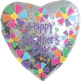 "30"" Happy Mother&#39s Day Holographic Heart"