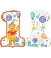 "32"" Happy 1st Birthday Pooh"