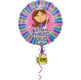 "28"" Sweet 16 Birthday Princess Singing balloon"