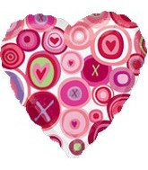 "18"" Magicolor XO Pattern Love Balloon"