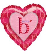 "18"" B Mine Heart Mylar Love Balloon"