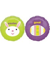 "18"" EASTER Good  BUNNY Smiling Balloon"