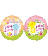 "18"" Chick and Bunny Happy Easter"
