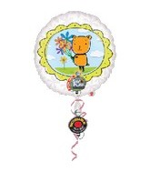 "32"" Recordable Bear with Flowers Balloon"