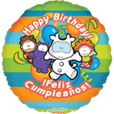 "18"" Gusanito Happy Birthday, Feliz Cumpleanos"