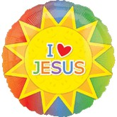 "18"" I (heart) Jesus Sun Balloon"