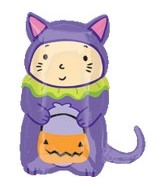 "23"" Cat Trick or Treater Large Mylar Balloon"