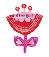 "33"" I Love You Flower Supershape"