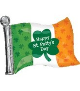 "27"" Irish Flag Reads ""Happy St. Patricks Day"""