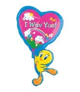 "35"" Tweety Balloon I Wuv You Jumbo"