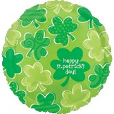 "18"" Happy St. Patricks Day  Shamrocks"