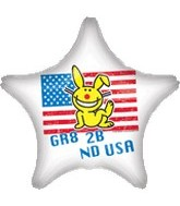 "18"" It&#39s Happy Bunny USA Star Balloon"