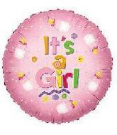 "18"" It&#39s A Girl Baby Bottle Balloon"