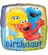 "18"" Sesame Street Balloon Happy Birthday"