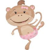 Large Shape Monkey Girl Baby