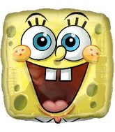 "18"" SpongeBob Balloon Square Face Foil"