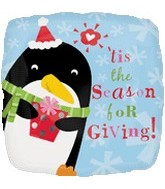 "18"" Tis the Season for Giving Penguin"
