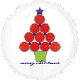"18"" Merry Christmas Festive Tree Balloon"