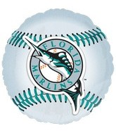 "18"" MLB Florida Marlins Baseball Balloon"