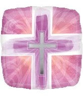 "18"" Joyous Cross Pink"