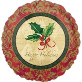 "18"" Happy Holiday Style Christmas Holly"