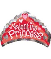 "30"" Valentine Princess Holographic Crown"