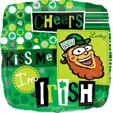 "18"" Kiss Me I&#39M Irish"