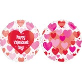 "26"" See-thru HVD Floating Hearts"