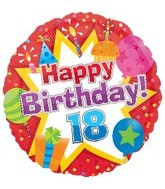 "18"" Happy Birthday Icons 18 Balloon"