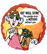 "18"" Maxine Get Well Soon! Mylar Balloon"