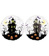 "25"" See Through Haunted House Balloon"