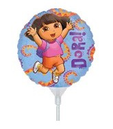"9"" EZ Fill Airfill Dora With Sticks (3 Pack)"