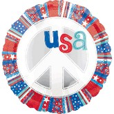 "18"" USA Peace sign Balloon"