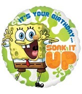 "18"" SpongeBob Birthday Mylar Balloon"