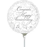 "4"" Airfill Only Elegant Congrats Anniversary"