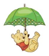 "35"" Winnie the Pooh Umbrella Balloon Shape"