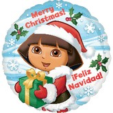 "18"" Dora Christmas Balloon"