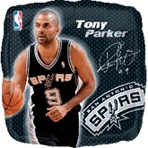 "18"" NBA TONY PARKER Basketball Balloon"