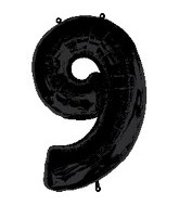 "34"" Anagram Brand Black Number 9 Balloon"