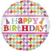 "18"" Bright Birthday Letters Mylar Balloon"