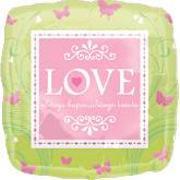 "18"" Love is Patient Mylar Balloon"