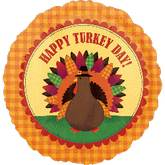 "18"" Homespun Turkey Day Balloon"