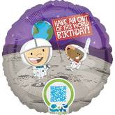 "18"" Outer Space Birthday Balloon"