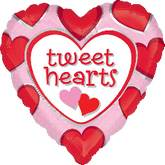 "18"" Tweet Hearts Mylar Balloon"